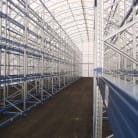 Self-support rack-clad warehouses