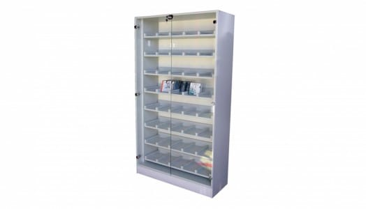 Cupboard For Cd And Dvd With Glass Doors Metal Cabinets For